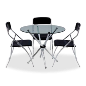 Conjunto Onda mesa + 3 cadeiras