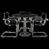 Conjunto Studio mesa + 3 cadeiras