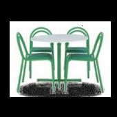 Conjunto Luna mesa + 4 cadeiras