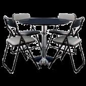 Conjunto Asta Cinza mesa + 4 cadeiras