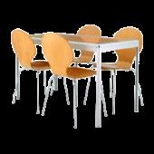 Conjunto Tom 5 mesa + 4 cadeiras