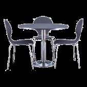 Conjunto Tom mesa + 3 cadeiras