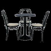Conjunto Café mesa + 3 cadeiras