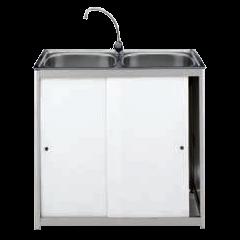 Lava-louça 2 pias com ligação directa