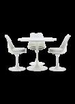 Conjunto Tulipa mesa + 3 cadeiras